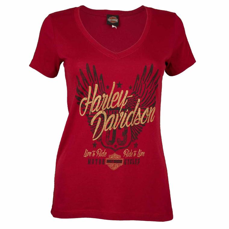 Sturgis Harley-Davidson® Women's Winged Rider Short Sleeve T-Shirt