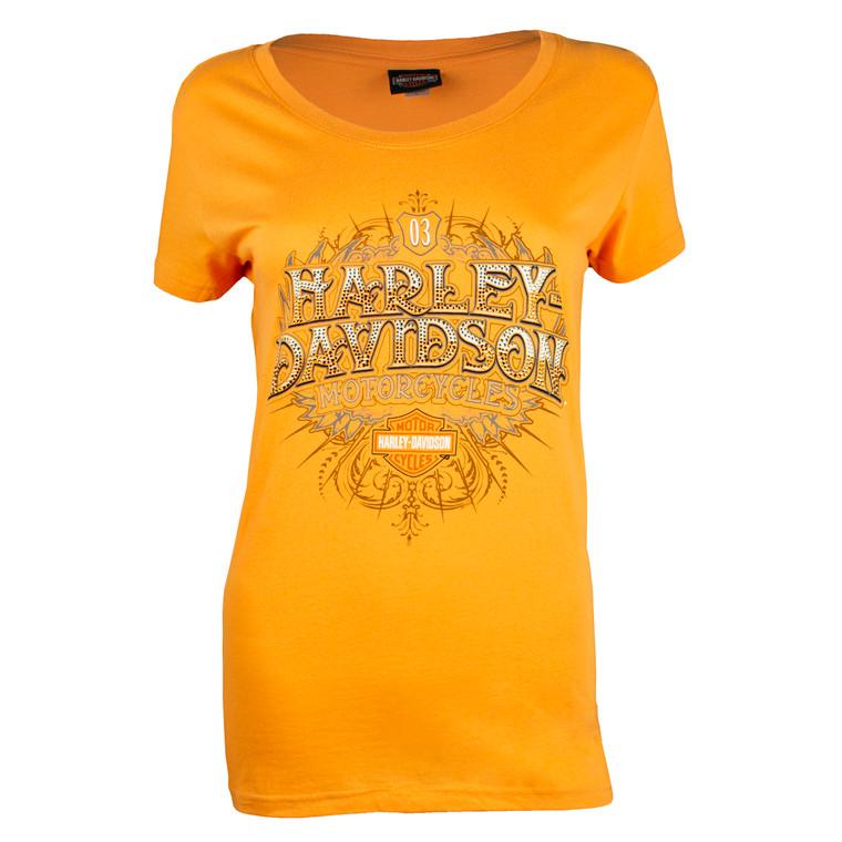 Sturgis Harley-Davidson® Women's Summer Crest Orange T-Shirt