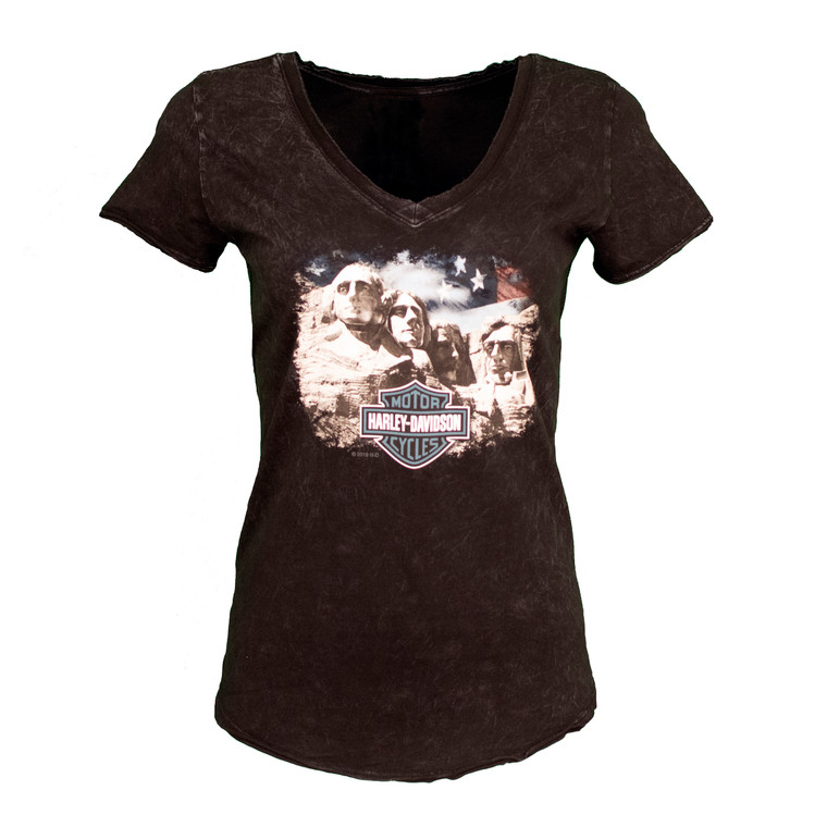 Black Hills Harley-Davidson® Women's Proud Scene Short Sleeve Shirt
