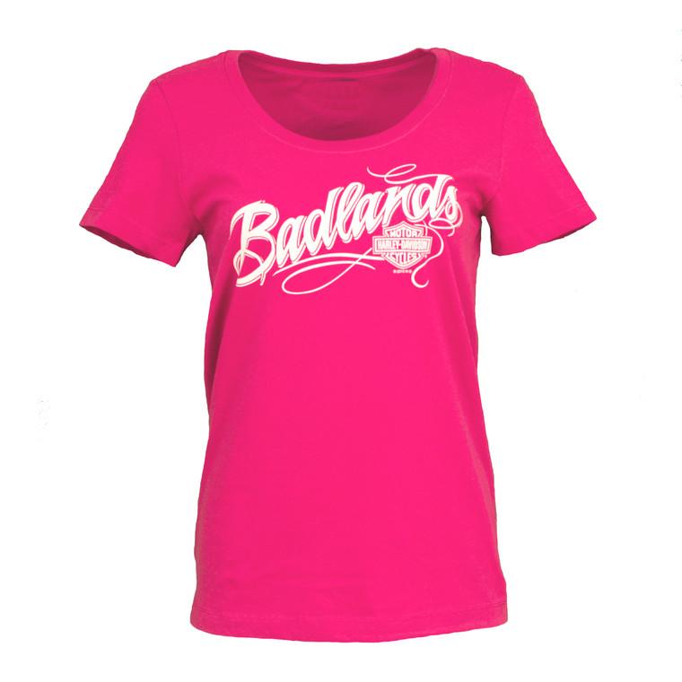 Badlands Harley-Davidson® Women's Badlands Name Short Sleeve T-Shirt