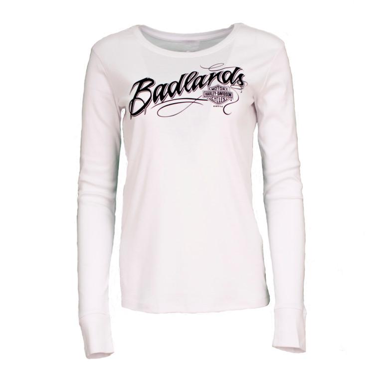Badlands Harley-Davidson® Women's Badlands Name Long Sleeve Shirt