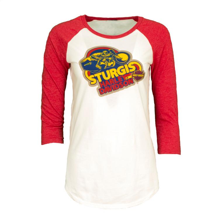 Sturgis Harley-Davidson® Women's Retro Joe 3/4-Sleeve Shirt