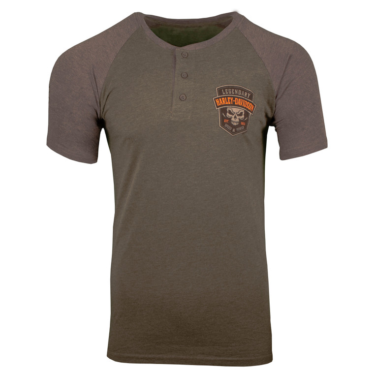 Sturgis Harley-Davidson® Men's Henley Speed Short Sleeve T-Shirt