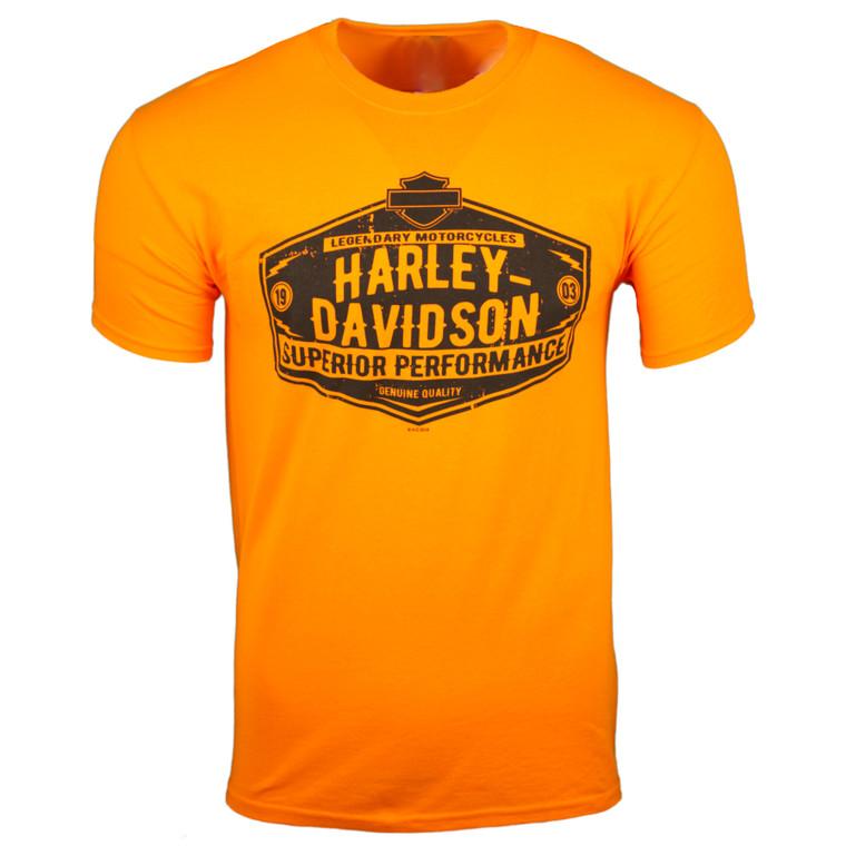 Sturgis Harley-Davidson® Men's Softy Orange Razorblade Short Sleeve T-Shirt