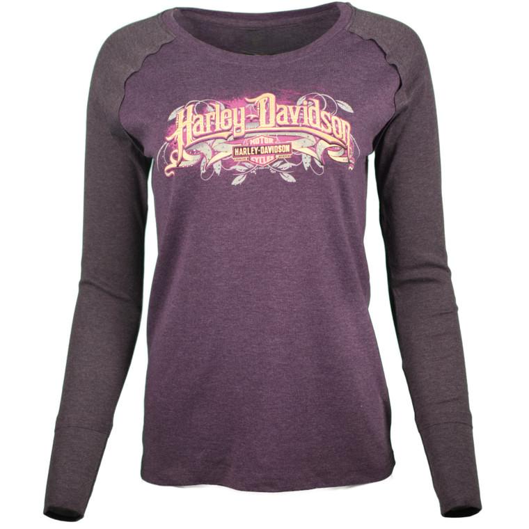Sturgis Harley-Davidson® Women's Purple Dusk Long Sleeve T-Shirt