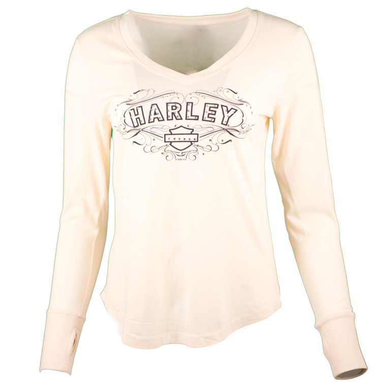 Sturgis Harley-Davidson® Women's Blush Fancy Bling Long Sleeve