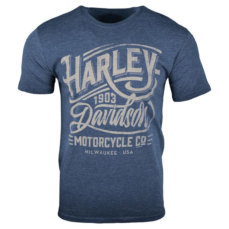 Sturgis Harley-Davidson® Men's Navy Danger Line Short Sleeve T-Shirt