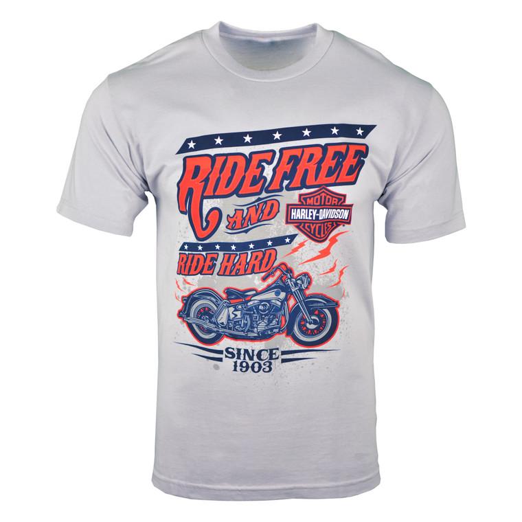 Sturgis Harley-Davidson® Men's Silver Ride Hard Short Sleeve T-Shirt
