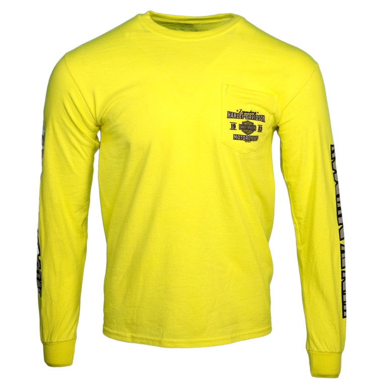 Black Hills Harley-Davidson® Men's Keystone Safety Green Motor Long Sleeve T-Shirt
