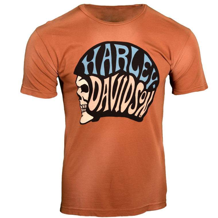 Sturgis Harley-Davidson® Men's Texas Orange Helmet Short Sleeve T-Shirt