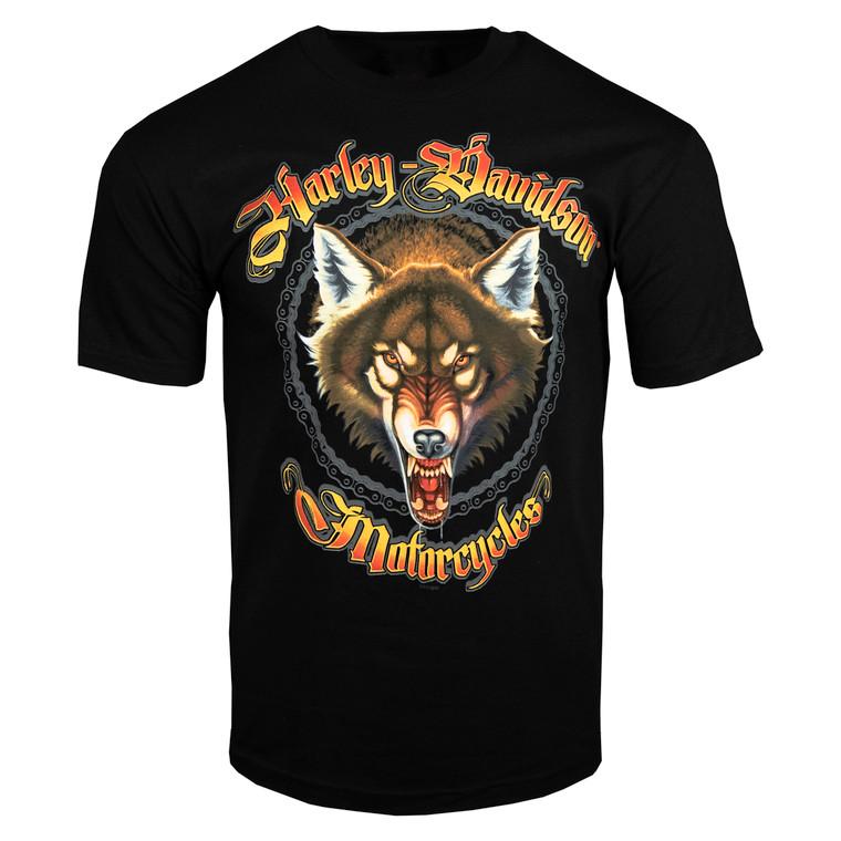 Sturgis Harley-Davidson® Men's Black Mad Wolf Short Sleeve T-Shirt