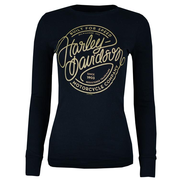 Sturgis Harley-Davidson® Women's Black Classic Curves Long Sleeve T-Shirt