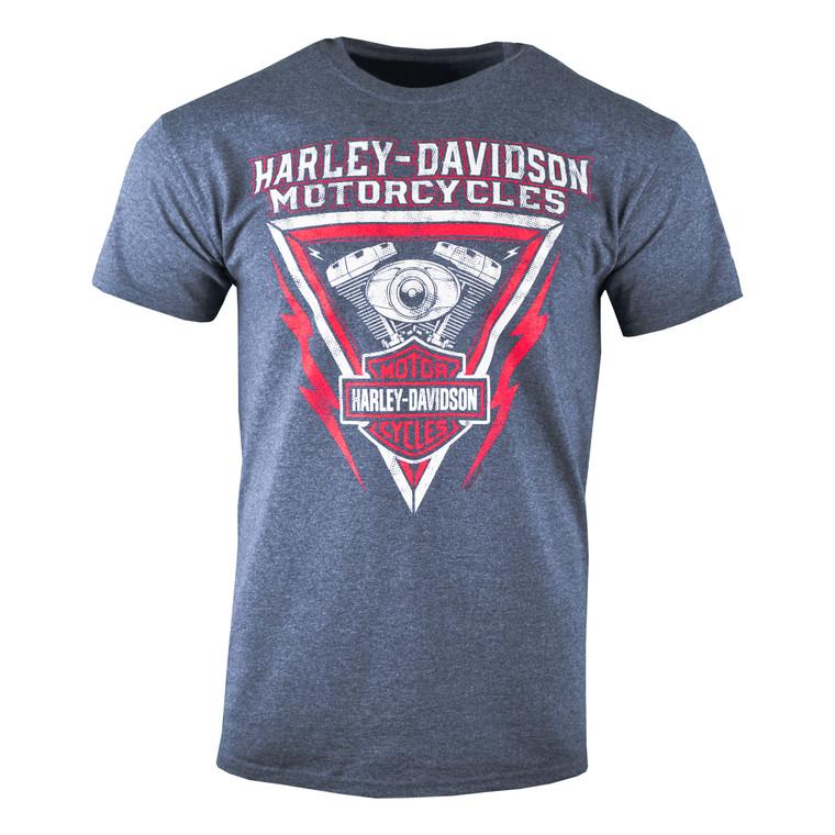 Sturgis Harley-Davidson® Men's Heather Navy High Voltage Short Sleeve T-Shirt