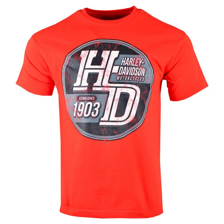 Sturgis Harley-Davidson® Men's Red Steamroller Short Sleeve T-Shirt