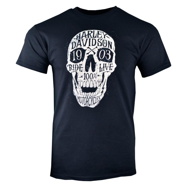 Sturgis Harley-Davidson® Men's Black Hand Skullage Short Sleeve T-Shirt