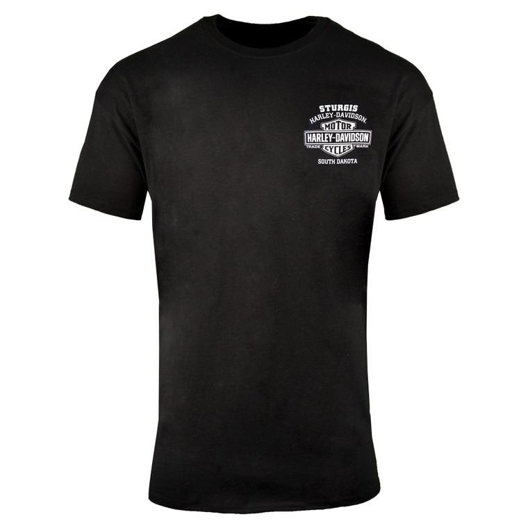 Sturgis Harley-Davidson® Men's Black Engine Tour Short Sleeve T-Shirt
