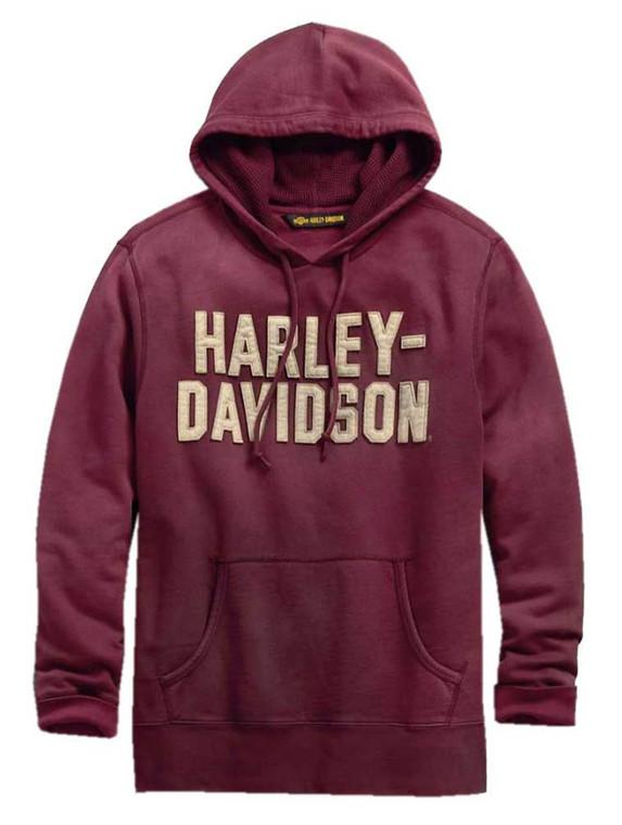 Harley-Davidson® Men's Felt Lettering Slim Fit Pullover Hoodie 99180-19VM