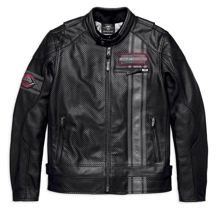 Harley-Davidson® Men's Manta Leather Jacket w/ Coolcore Technology 97009-18VM