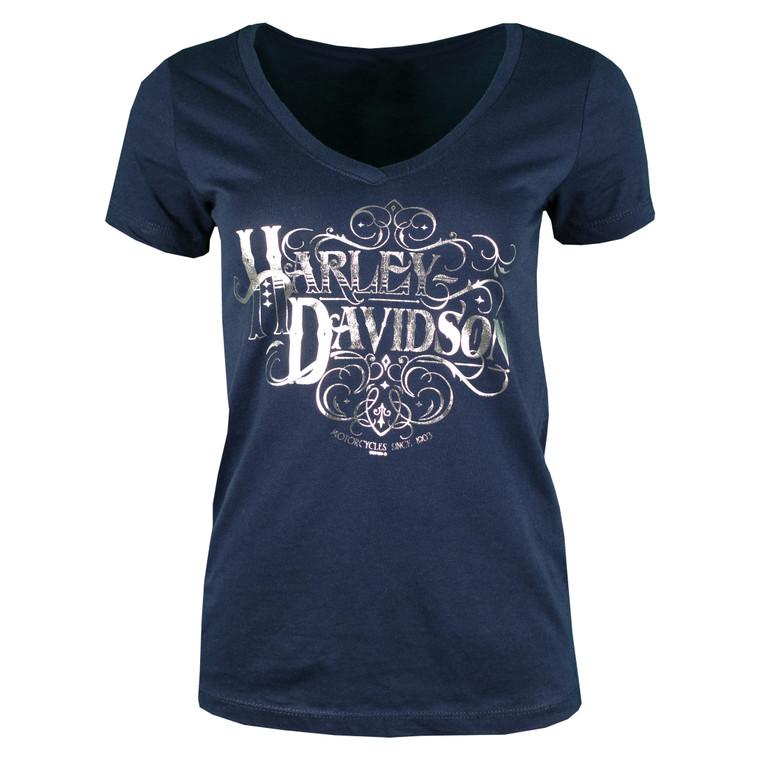 Sturgis Harley-Davidson® Women's Navy Craftsman Short Sleeve T-Shirt