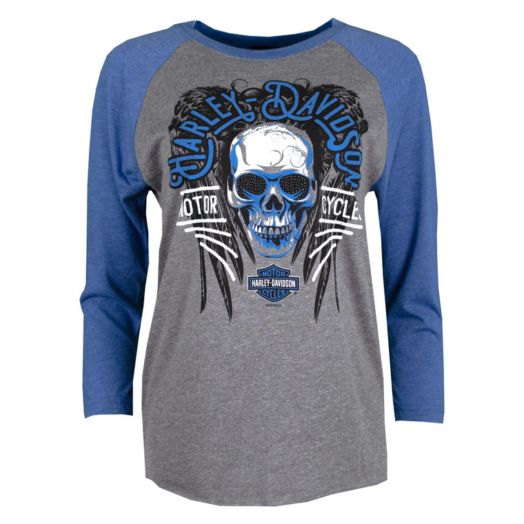 Sturgis Harley-Davidson® Women's Heather & Royal Sinister 3/4 Sleeve T-Shirt