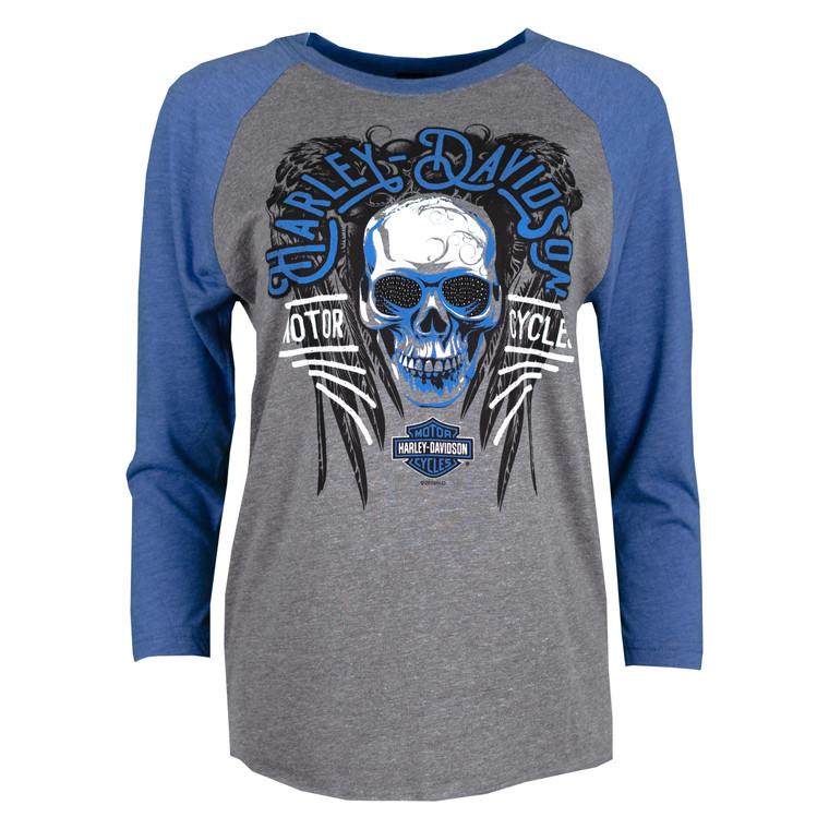 Sturgis Harley-Davidson® Women's Heather & Royal Sinister 3/4 Sleeve T-Shirt
