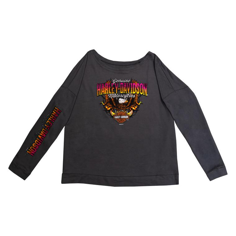 Sturgis Harley-Davidson® Women's Dark Grey Protector Long Sleeve T-Shirt