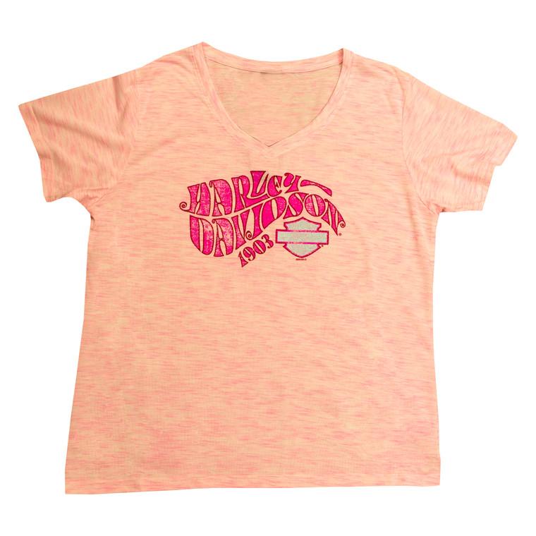 Sturgis Harley-Davidson® Women's Bubblegum Groove Short Sleeve T-Shirt
