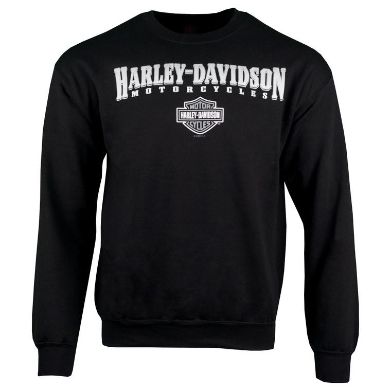 Sturgis Harley-Davidson® Men's Black Crest Fleece Crewneck Sweatshirt