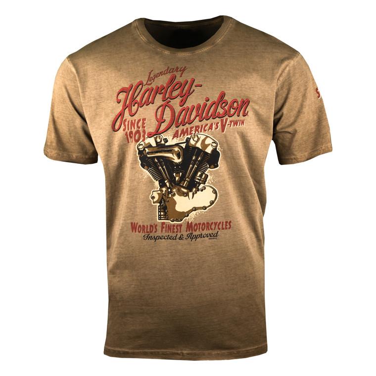 Sturgis Harley-Davidson® Men's Cocoa Pursue Short Sleeve T-Shirt