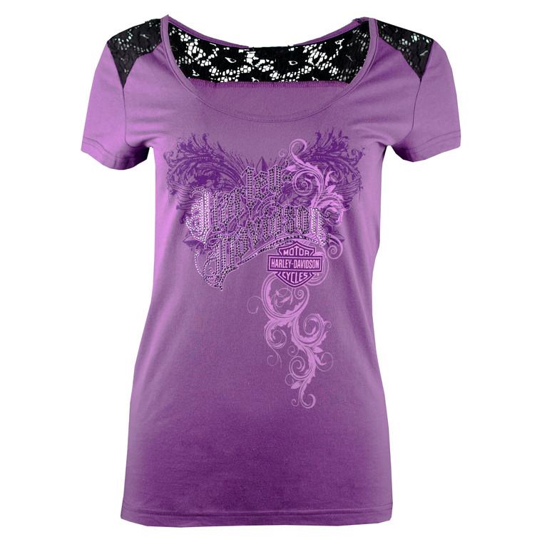 Sturgis Harley-Davidson® Women's Purple Renaissance Short Sleeve T-Shirt