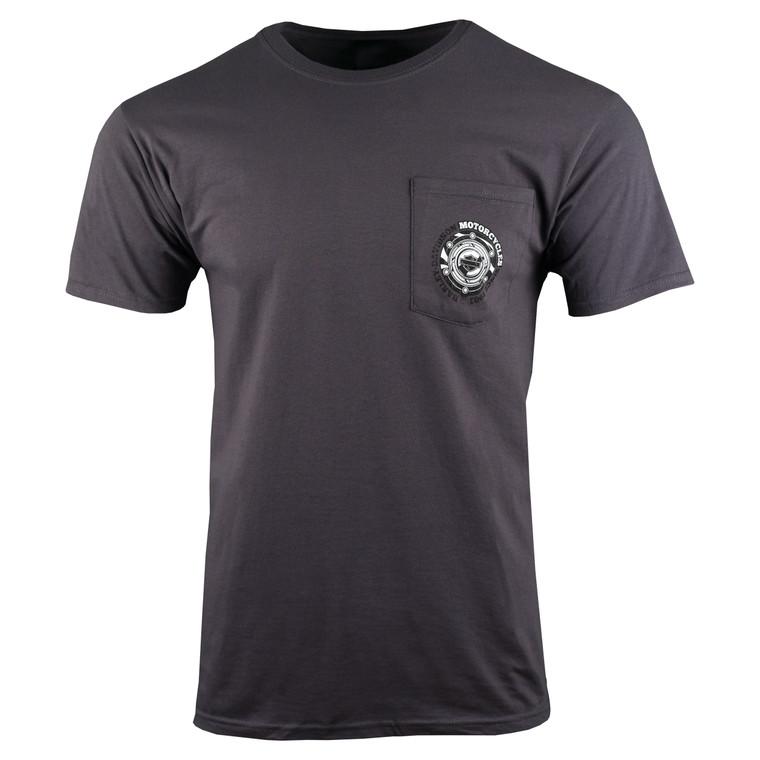 Sturgis Harley-Davidson® Men's Charcoal Gas Cap Pocket Short Sleeve T-Shirt