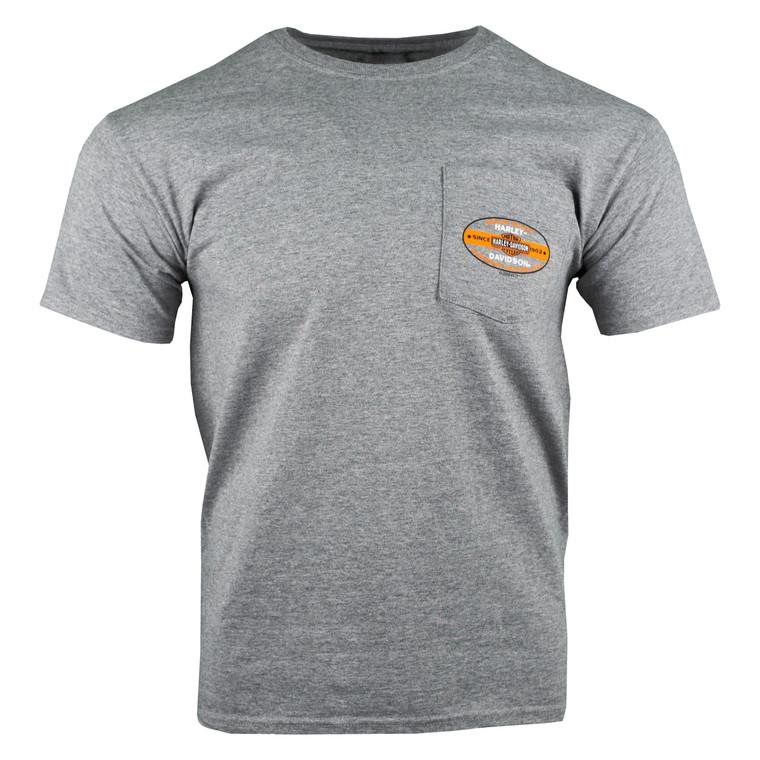 Sturgis Harley-Davidson® Men's Pocket Oxford TM Vintage Pocket Short Sleeve T-Shirt