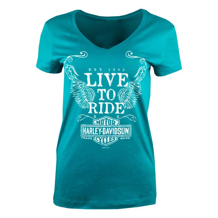 Sturgis Harley-Davidson® Women's Licorice Label Short Sleeve T-Shirt