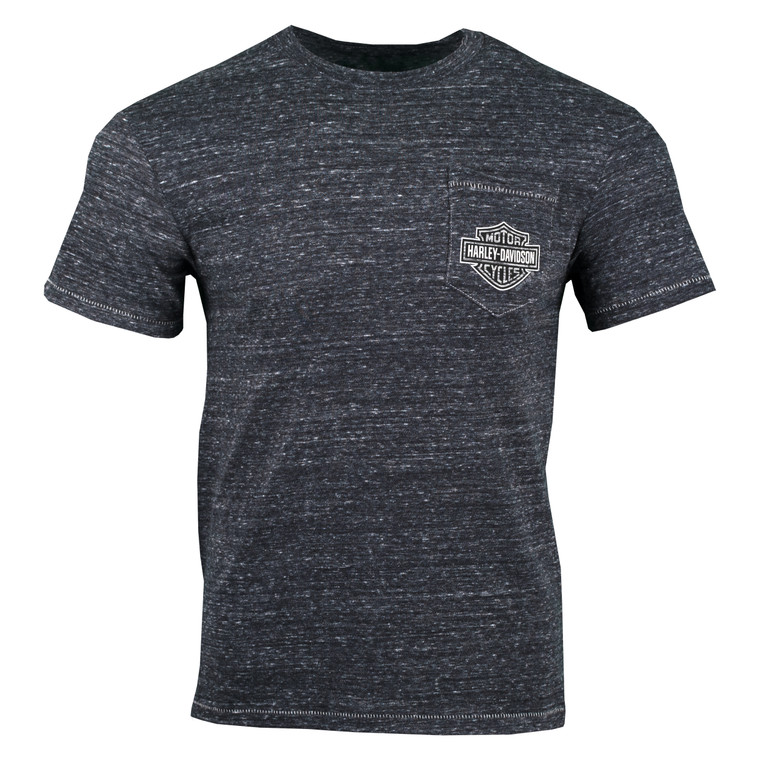 Sturgis Harley-Davidson® Men's Raw Shield Short Sleeve  Pocket T-Shirt
