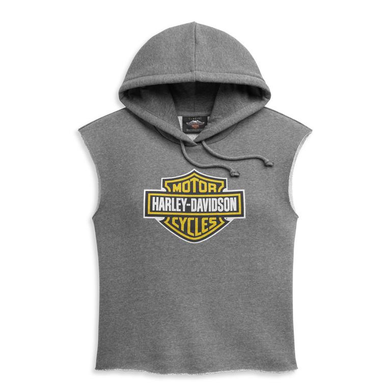 Harley-Davidson® Women's Bar & Shield Sleeveless Pullover Hoodie 96396-21VW