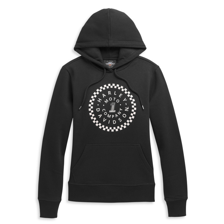 Harley-Davidson® Women's #1 Circle Graphic Pullover Hoodie 96388-21VW