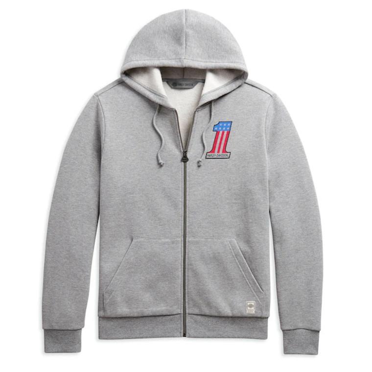 Harley-Davidson®  Men's #1 Slim Fit Zip Up Sweatshirt 98636-20VM