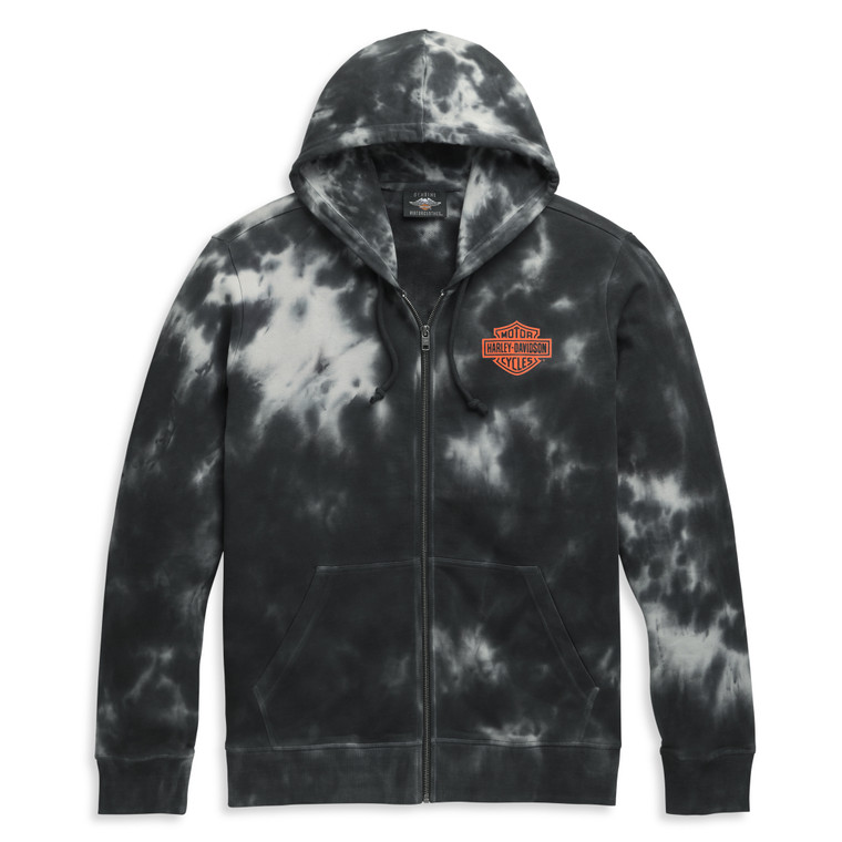 Harley-Davidson® Men's Tie Dye Zip Up Hoodie Sweatshirt 96411-21VM