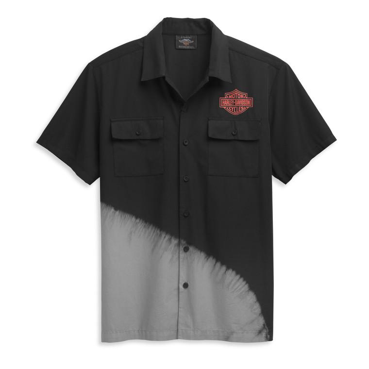 Harley-Davidson® Men's Asymetrical Tie Dye Mechanics Shirt 96446-21VM