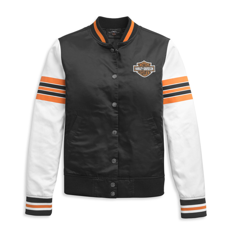 Harley-Davidson® Women's Sleeve Stripe Bomber Jacket 97447-21VW