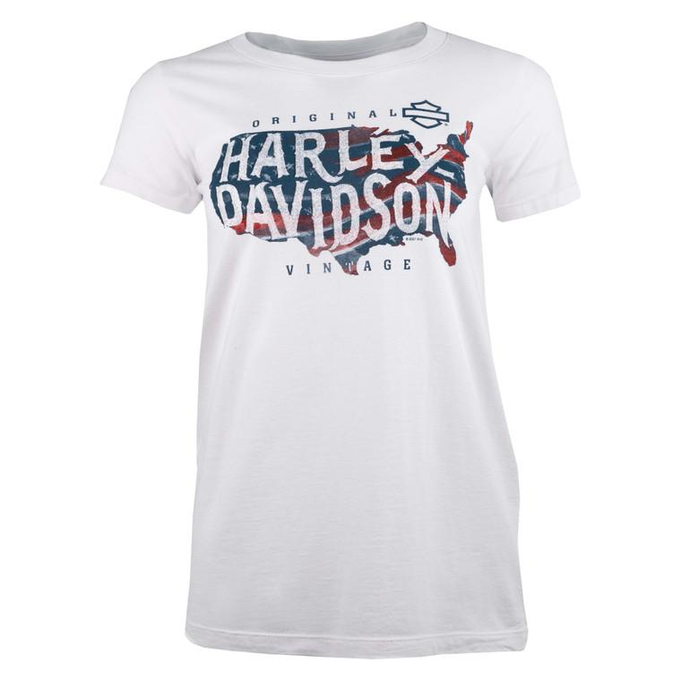 Sturgis Harley-Davidson® Women's Faded States Short Sleeve T-Shirt