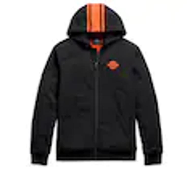 Harley-Davidson® Men's Vertical Stripe Hooded Stretch Jacket - Tall