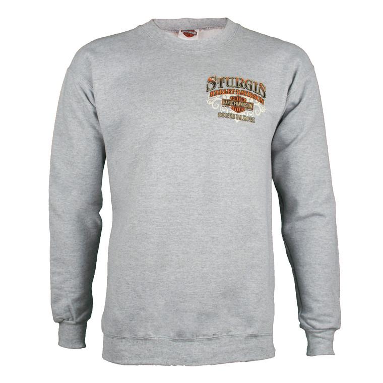 Sturgis Harley-Davidson® Men's Riding Scene Light Wash Grey Sweatshirt