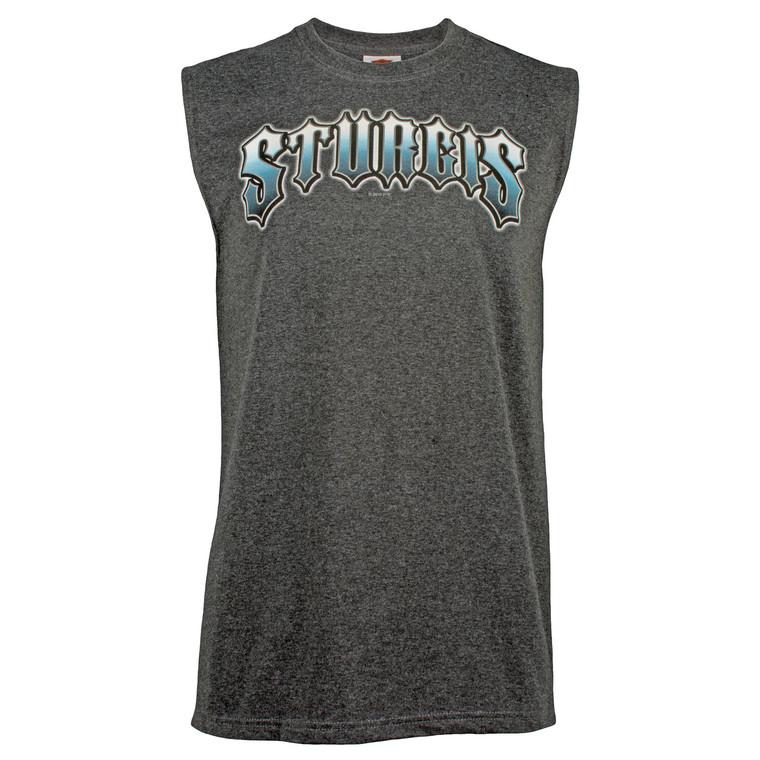 Sturgis Harley-Davidson® Men's Narrow Edgy Charcoal Sleeveless T-Shirt