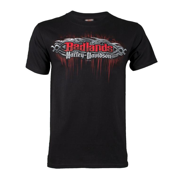 Badlands Harley-Davidson® Men's Edge Black Short Sleeve T-Shirt