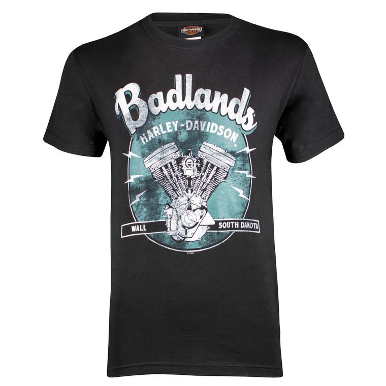 Badlands Harley-Davidson® Men's Vintage Black Short Sleeve T-Shirt