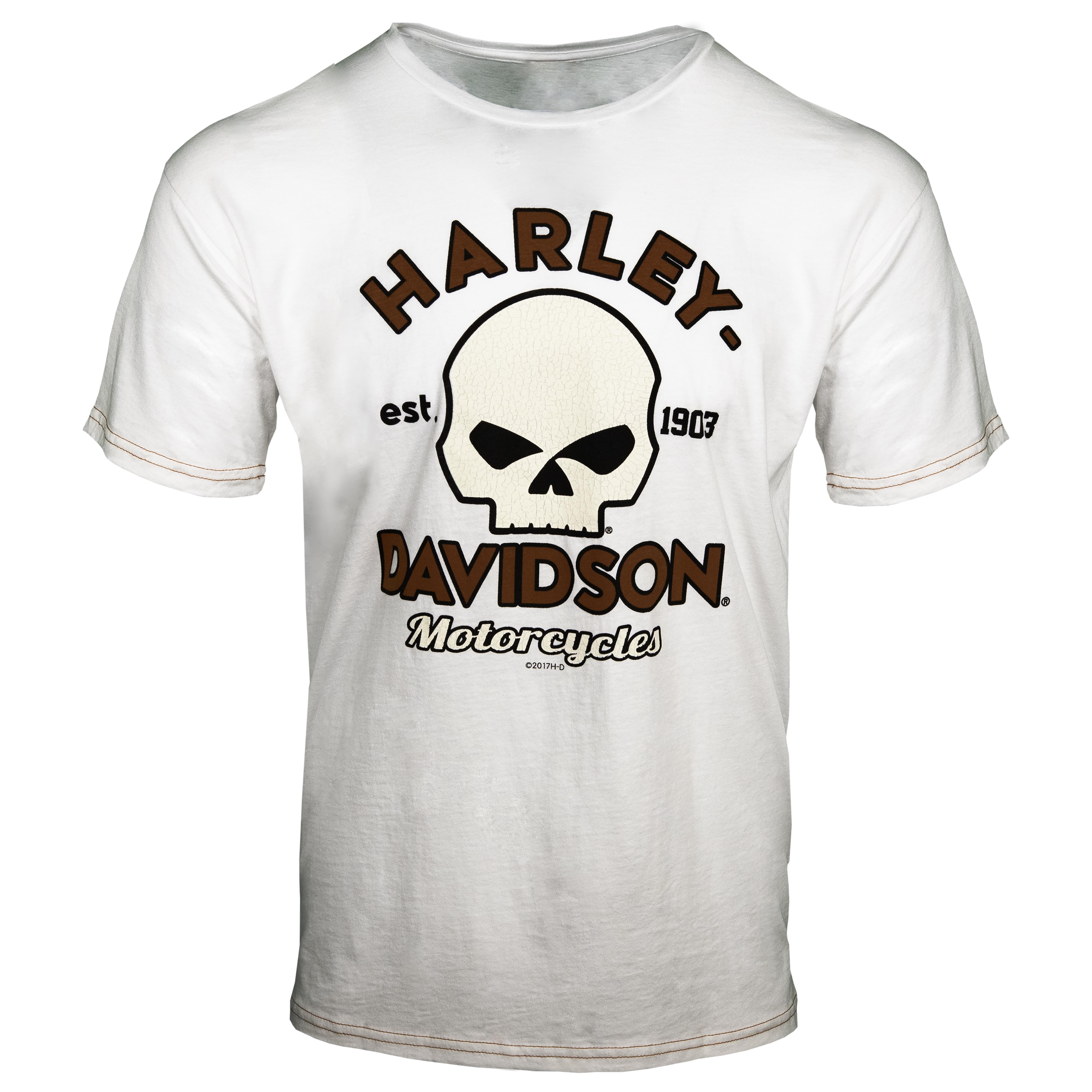 Black Hills Harley-Davidson Men/'s Buffalo Skull Map Cap Dye Short Sleeve T-Shirt