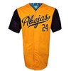 Abejas Authentic Jersey - NoveltyCollectiblesMemorabilia - Salt Lake Bees - 24 - Gold -