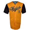 Abejas Authentic Jersey - NoveltyCollectiblesMemorabilia - Salt Lake Bees - 14 - Gold -