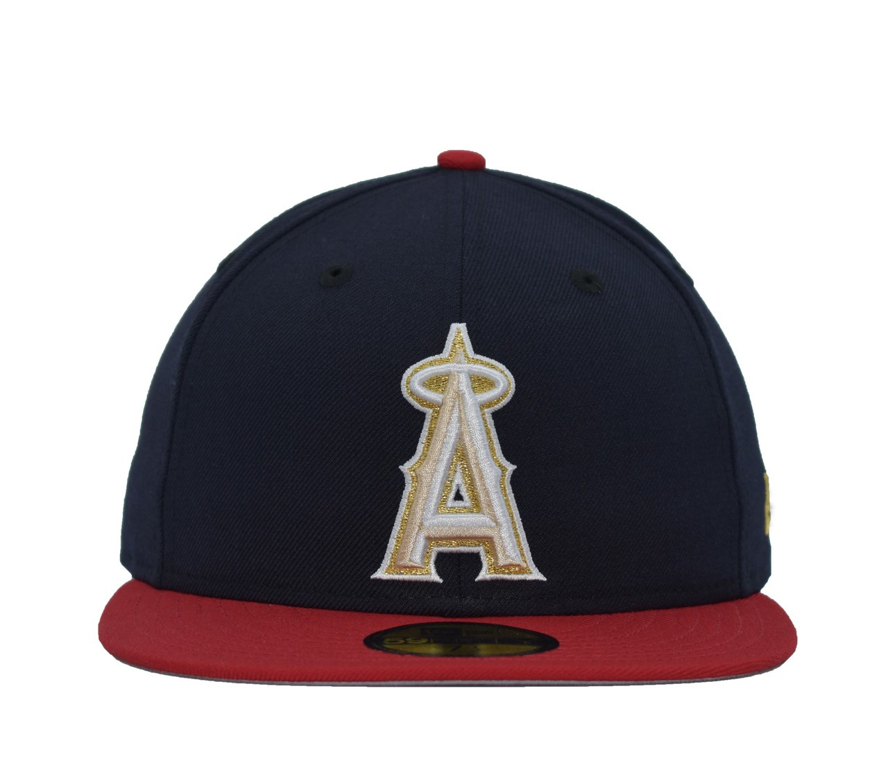 cf1b4476 Stripes 59fifty - HeadwearFitted - Los Angeles Angels - - Primary - Navy - New  Era